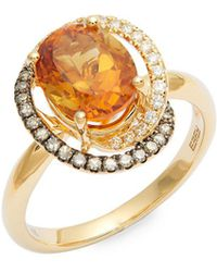 Effy - 14k Gold Citrine & Diamond Swirl Ring - Lyst