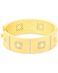 Freida Rothman - Crystal And Sterling Silver Visionary Bracelet - Lyst