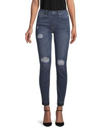Kenneth Cole - Jess Distressed Skinny Jeans - Lyst