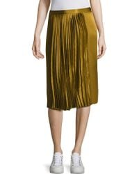Public School - Gamil Silk Pleated Skirt - Lyst
