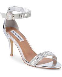 Steve Madden - Florela Embellished Metallic Sandals - Lyst
