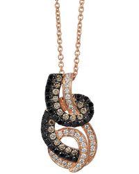 Le Vian - Exotics Swirl 14k Strawberry Gold Pendant Necklace - Lyst