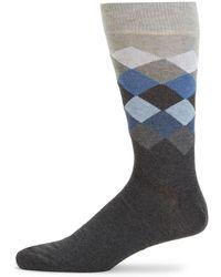 Saks Fifth Avenue - Colorblock Diamond Knit Crew Socks - Lyst
