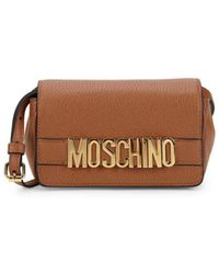 Moschino - Pebbled Leather Boxed Mini Bag - Lyst