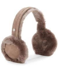 UGG - Leather Shearling Ear Muffs - Lyst