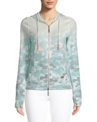 Peace Love World - Camo Drawstring Hoodie - Lyst