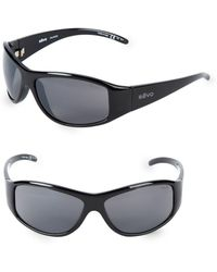 ff596d9317 Lyst - Ray-Ban 62mm Rectangle Wrap Sunglasses in Black for Men