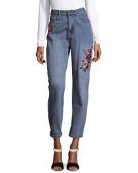 MINKPINK - Rose Scando Cotton Jeans - Lyst