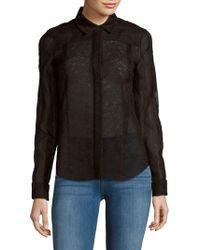 J. Mendel - Textured Long-sleeve Shirt - Lyst