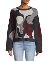 360cashmere - Skull-front Cashmere Sweater - Lyst