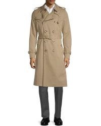 Valentino - Studded Double-breasted Trench Coat - Lyst