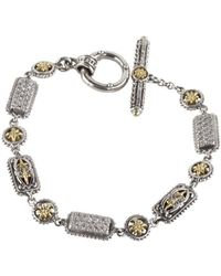 Konstantino - Asteri White Diamond, Crystal And Sterling Silver Bracelet - Lyst