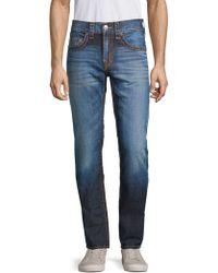 True Religion - Contrast Stitch Skinny Jeans - Lyst