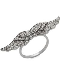 Bavna - Champagne Diamond Wings Ring - Lyst