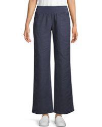 Allen Allen - Wide-leg Linen Trousers - Lyst