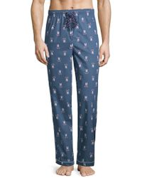Psycho Bunny - Printed Woven Cotton Pyjama Trousers - Lyst