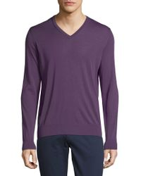 Armani - V-neck Wool Sweater - Lyst