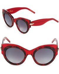 Pomellato - 48mm Round Printed Sunglasses - Lyst
