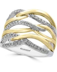 Effy - Diamond, 14k Yellow And White Gold Ring, 0.41 Tcw - Lyst