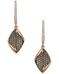 Le Vian - Chocolatier® Chocolate & Vanilla Diamond® Geometric Drop Earrings - Lyst