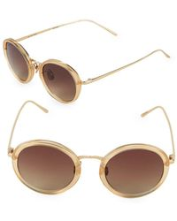 Linda Farrow - 46mm Round Sunglasses - Lyst