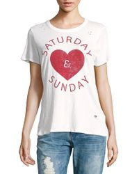 Chaser - Saturday & Sunday Heart Graphic Tee - Lyst