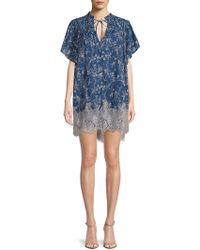 e0748e56ab51 Lyst - Free People Marigold Mini Dress in Blue - Save 31%