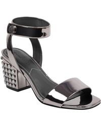 Kendall + Kylie - Sophie Studded Block Heel Sandals - Lyst