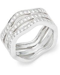 Kwiat - Wave Diamond & 18k White Gold Fancy Ring - Lyst