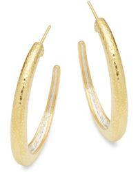 Gurhan - Goldtone Silver Hoop Earrings - Lyst