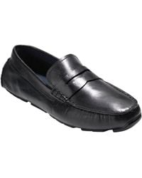 Cole Haan - Kelson Penny Driver Leather Moccasins - Lyst