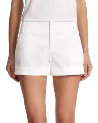 Alice + Olivia - Cady Cuffed Shorts - Lyst