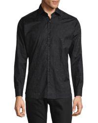 Jared Lang - Jacquard Print Button-down Shirt - Lyst