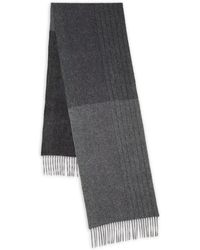 9a5641fd6e36c Saks Fifth Avenue Chalk Stripe Cashmere Scarf in Black for Men - Lyst