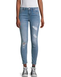 Vigoss - Marly Distressed Mid-rise Skinny Jeans - Lyst