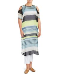 Vince Camuto - Striped Cold-shoulder Harmony Top - Lyst