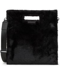 Kendall + Kylie - Faux Fur-trimmed Shoulder Bag - Lyst