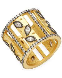 Freida Rothman - Fleur Bloom Sterling Silver & Crystal Ring - Lyst