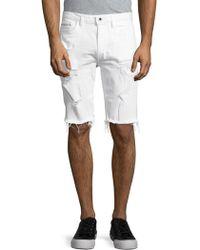 Calvin Klein - Distressed Cut-off Denim Shorts - Lyst