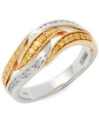 Effy - Canaré Diamond, Yellow Diamond & 14k Gold Band Ring - Lyst