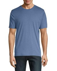 Saks Fifth Avenue - Crewneck Cotton Tee - Lyst