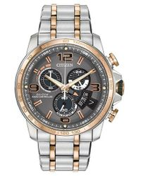 Citizen - Mens Eco Drive Two Tone Chronograph Watch - Lyst