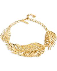 Oscar de la Renta - Palm Leaf Collar Necklace - Lyst