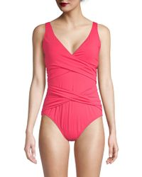 Tommy Bahama - Pleated One-piece Swimsuit - Lyst
