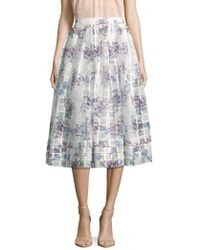 ERIN Erin Fetherston - Pipa Floral-print Textured Skirt - Lyst