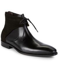 Mezlan - 18686 Tie Front Leather Chelsea Boots - Lyst