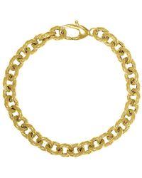 Saks Fifth Avenue - 14k Yellow Gold Twist Rolo Link Bracelet - Lyst