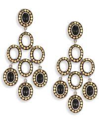 John Hardy - Dot Black Onyx & 18k Yellow Gold Chandelier Earrings - Lyst