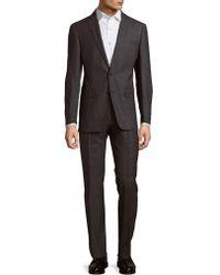 CALVIN KLEIN 205W39NYC - Checked Woollen Suit - Lyst