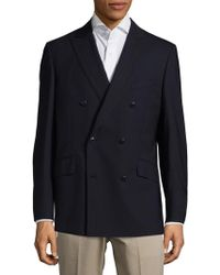 Robert Graham - Double-breasted Wool-blend Jacket - Lyst